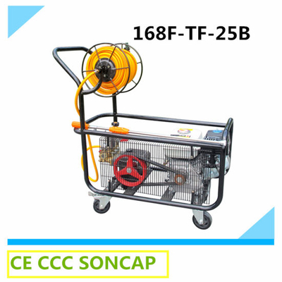High Pressure Agricultural Plunger Pump with Petrol Gasoline Engine (168F-TF-25B)